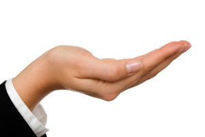 asking hand